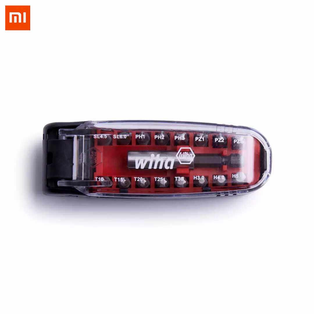 XIAOMI WIHA 17Pcs Magnetic Screwdriver Bits Kit Vanadium Steel Pocket Size Screw Driver Repair Tool