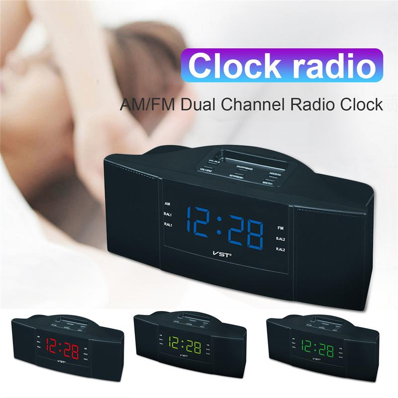 Image 5 - Portable Speaker Multi function LED Clock AM/FM Digital Radio Stereo Sounds Music Program Devices Dual Band Channel For Gifts-in Portable Speakers from Consumer Electronics