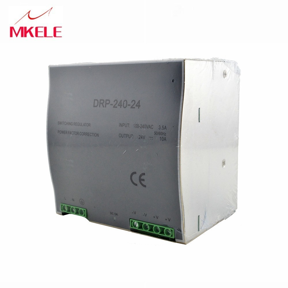 Hot Sale 24 Volt switching Power source Supply Din Rail 240W 24V 10A DR 240 24 China