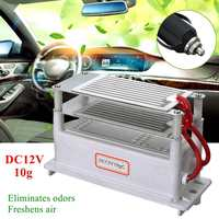 12V 10g Portable Commercial Car Home Office Ozone Generator Air Purifier Double Ceramics Ozone Plate Ozonizer Sterilizer