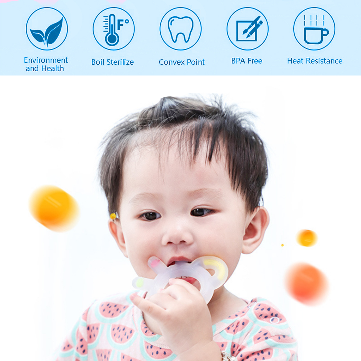 Baby Infant Food Grade Silicone Teether Kids Teething Toy Chew Toys for baby Boys Girls Chew Charms Teething Gift Toddler Toys in Baby Teethers from Mother Kids