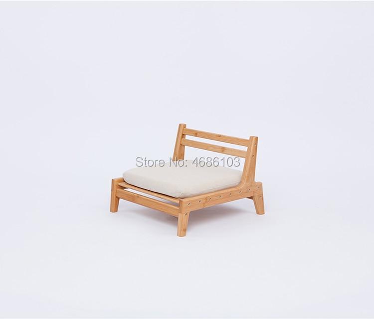 Living Room Chairs Floor Leather Chair 360 Degree Swivel Beige Sofa Living Room Furniture Japanese Meditation Backrest Legless Tatami Zaisu Chair
