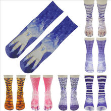 New Mens Women Painting Art Socks Funny Novelty Multi-Color Vintage Retro