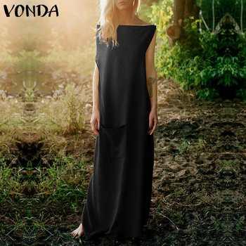 2edc7858e VONDA vestido de fiesta 2019 verano Mujer fuera del hombro manga de ...
