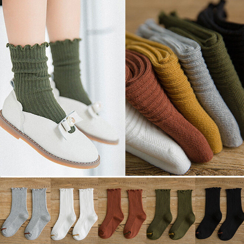 Brand Newest Arrival Baby Toddler Girls Cotton Knee High Tights Leg Warmer Stockings For 0-8T Cute Warm Solid Beautiful Stocking toddler