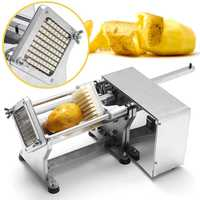 AC110V 220V Electric Potato Chip Cutter French Fries Cutting Slicer Stainless Steel Machine EU plug Copper Movement 36x26x18cm