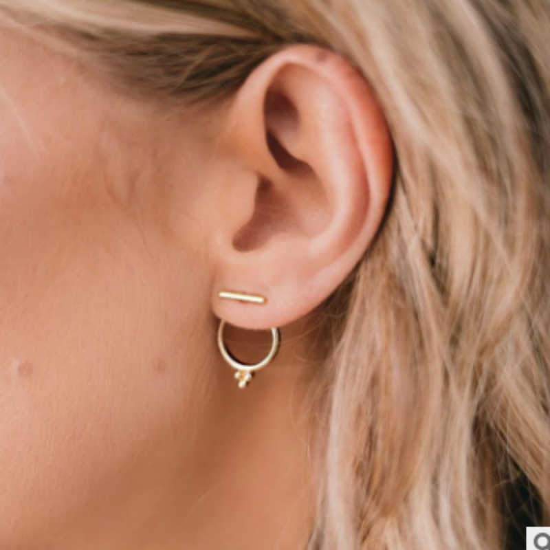 2019 New Earrings Fashion Jewelry Simple Bar Round Earrings For Women Girl Nice Gift Bijouterias Wholesale
