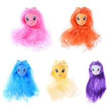 Cute Fashion DIY Doll Accessories Plastic Straight Synthetic Fiber Wig Toys(China)