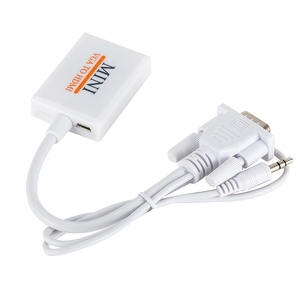 Image 5 - VGA Male To HDM Output 1080P HD+Audio TV AV HDTV Video Cable Converter Adapter