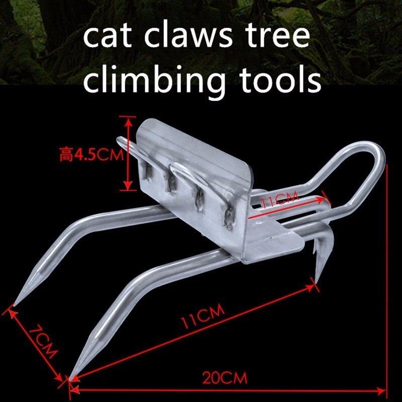 Camping al aire libre escalada cinco capturas en el árbol herramienta de uso especial de acero inoxidable garra de gato antideslizante refuerzo zapatos de hierro