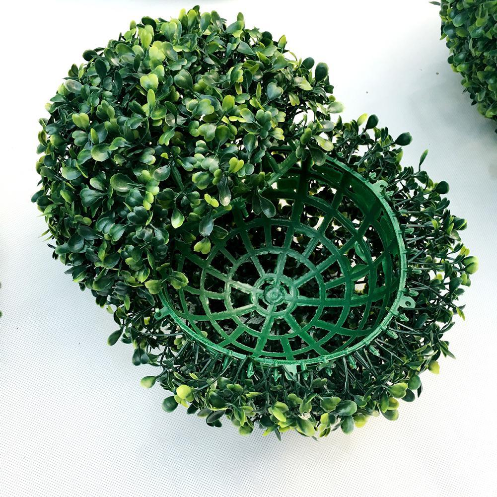 Image 5 - Simulate Plastic Green Leave Ball Artificial Grass Ball Home Garden Wedding Party Decoration-in Artificial & Dried Flowers from Home & Garden