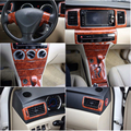 22 шт./компл. ABS Автомобильный интерьер цвет древесины накладка панель накладка Рамка комплект подходит для Toyota Corolla EX Altis 2013-2014