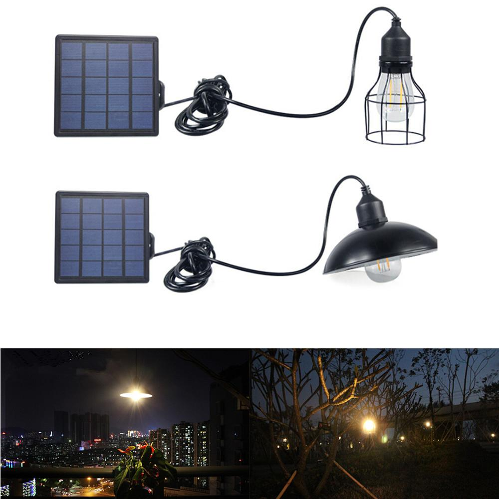 LumiParty LED Waterproof Retro Solar Power Pendant Light Street Light Bulb For Outdoor Courtyard Garden Corridor Solar Lamp