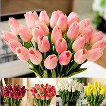 10Pcs Tulip Artificial Flower Real Touch PU Bouquet Flowers For Home Gift Wedding Decorative Drop Shipping