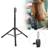 Hairdressing Training Mannequin Tripod Clamp Hair Wig Head Holder Stand Hair Tools