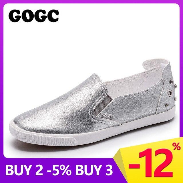 GOGC הרבעה קריסטל נעלי נשים לנשימה מעצב נעלי נשים יוקרה בד נעלי נשים לבן נשים סניקרס נעליים יומיומיות G980