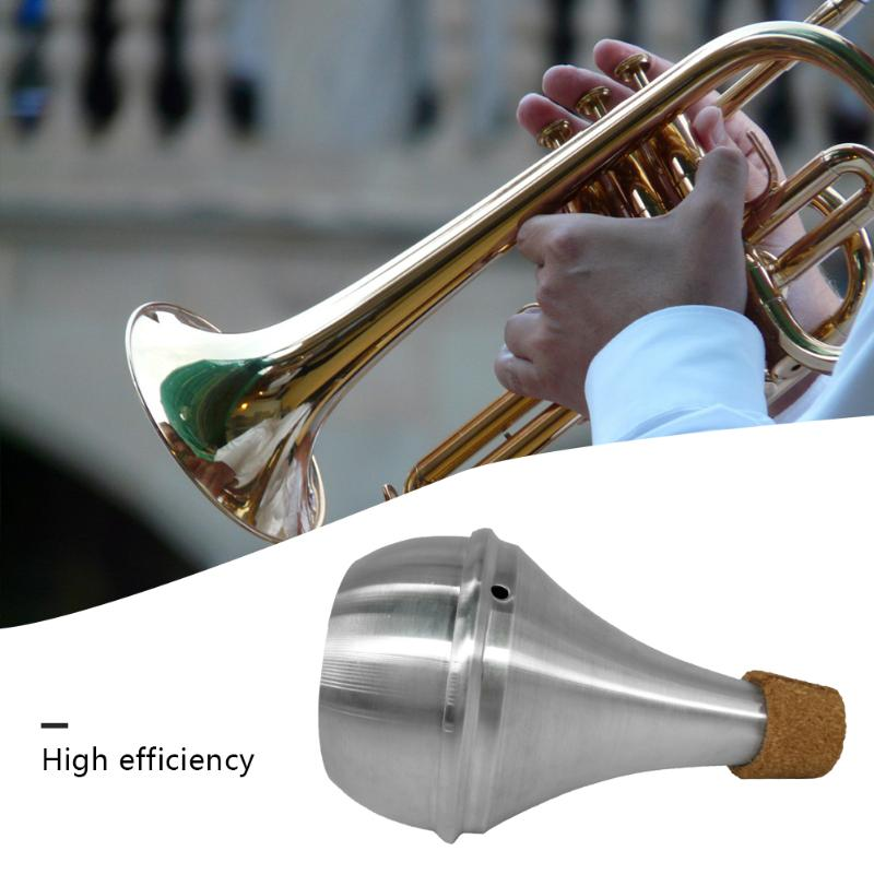 Aluminium Straight Trumpets Mute Musical Instrument Muffler Silencer Practice Tool For Beginner