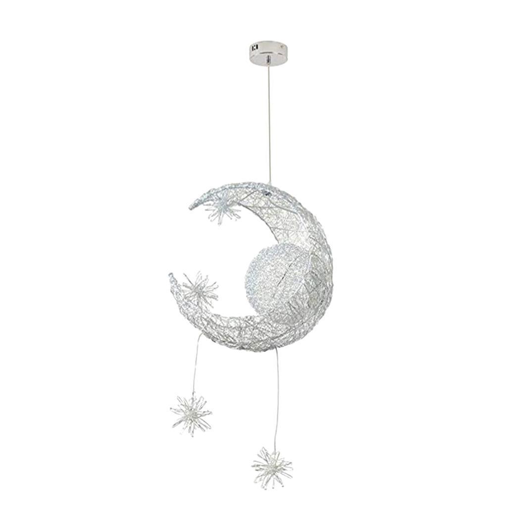 Fairy LED Pendant Light Weave Moon Star Shape Lamp Home Stylish and sleek design metal pendant light. DecorationFairy LED Pendant Light Weave Moon Star Shape Lamp Home Stylish and sleek design metal pendant light. Decoration
