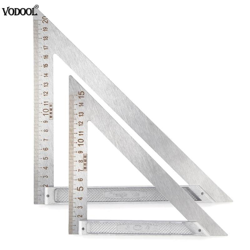 Multi-function 90 Degree Right Angle Stainless Steel Triangle Ruler Woodworking Measurement Drawing Tools