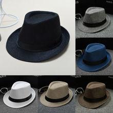 Nuevo diseño Unisex sombrero de paja Fedora sombrero de sol Panamá Trilby  triturable hombres señoras plegable estilo de viaje so. 4cf5aa2d73a