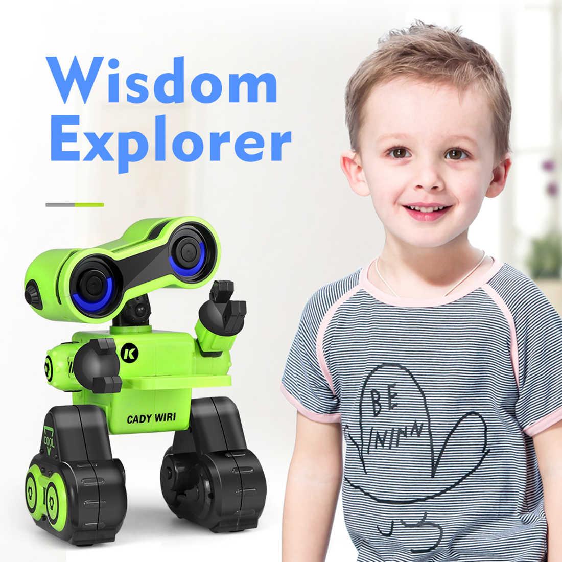 2019 JJRC R13 шелк-кади уири умный программирования робот с пением Танцы голосовой чат свет Управление функции-зеленый/желтый
