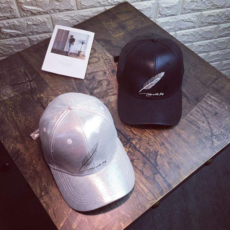 85bb8eed5755e Feather Sequins Brim Silk Baseball Caps 2019 New Summer Female Shine  Snapback Hats Fashion Hip Hop