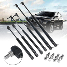 6pcs/set Bonnet+Tailgate+Rear Window Lift Support Struts Shocks Set For Jeep Grand Cherokee 99-04