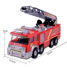 Activities Children's Toys Fire Truck Wholesale Electric Universal with Light Can Spray Simulation Remote Control Car Toys