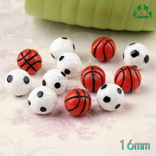 3D Ball Basketball Football Soccer Balls 10pcs Resin Flatback Flatbacks Cabochons Craft Scrapbooking Cardmaking Embellishments