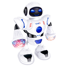 цена на Party LED Light Maker Music Dancing Electric Robot Toy Festival Decoration Kids Playing Accessories