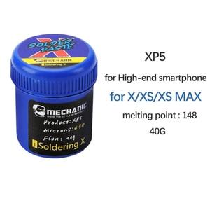 Image 2 - עבור iPhone X XS מקסימום הלחמה ללא עופרת הדבק הלחמה להדביק 148 נמוך טמפ XP5 הלחמה פח שטף עבור האם PCB תיקון כלי
