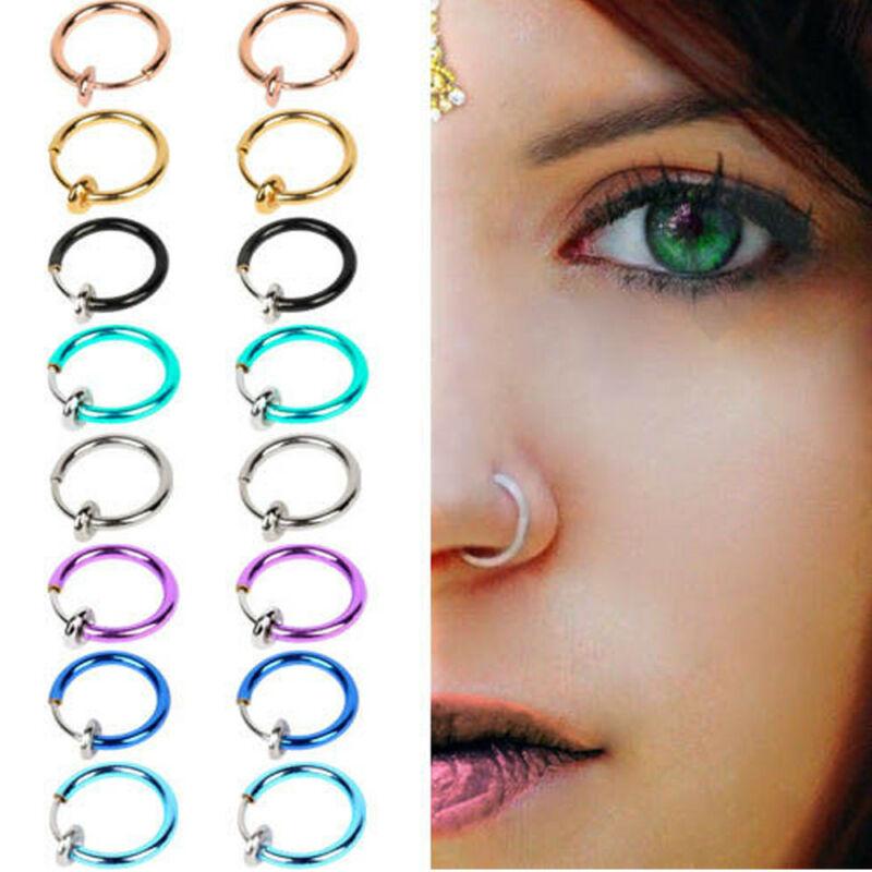 623660894571 Daith Top Septum Hoop arete cartílago de la nariz de moda anillo ...