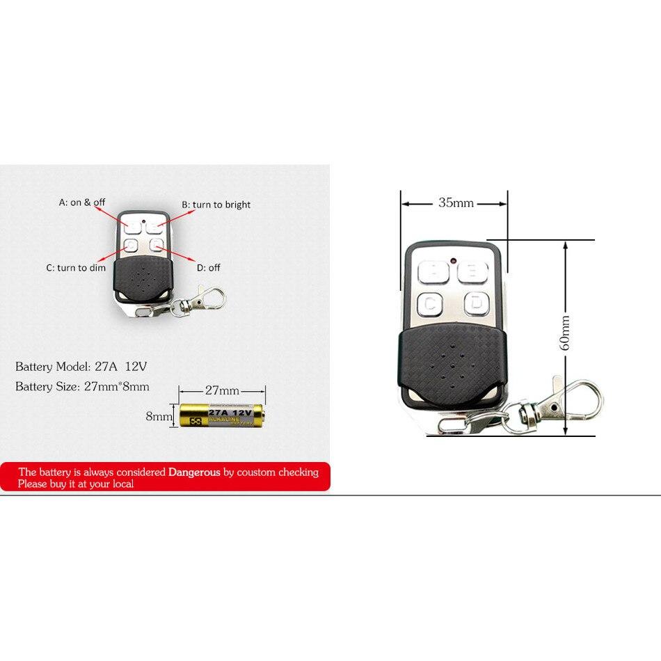 ROYAUME-UNI Standard 1 Gang 1 Voies Télécommande Gradateur Tactile Interrupteur À Distance Lumière Interrupteur Mural Noir Blanc Couleur Or Trempé panneau de verre - 3