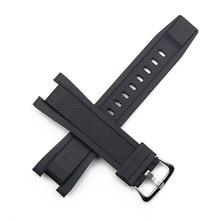 Resin strap men's pin buckle watch accessories for Casio bracelet GST-S130 S110 S100 W130L W100 W110 210 sports waterproof band цена в Москве и Питере