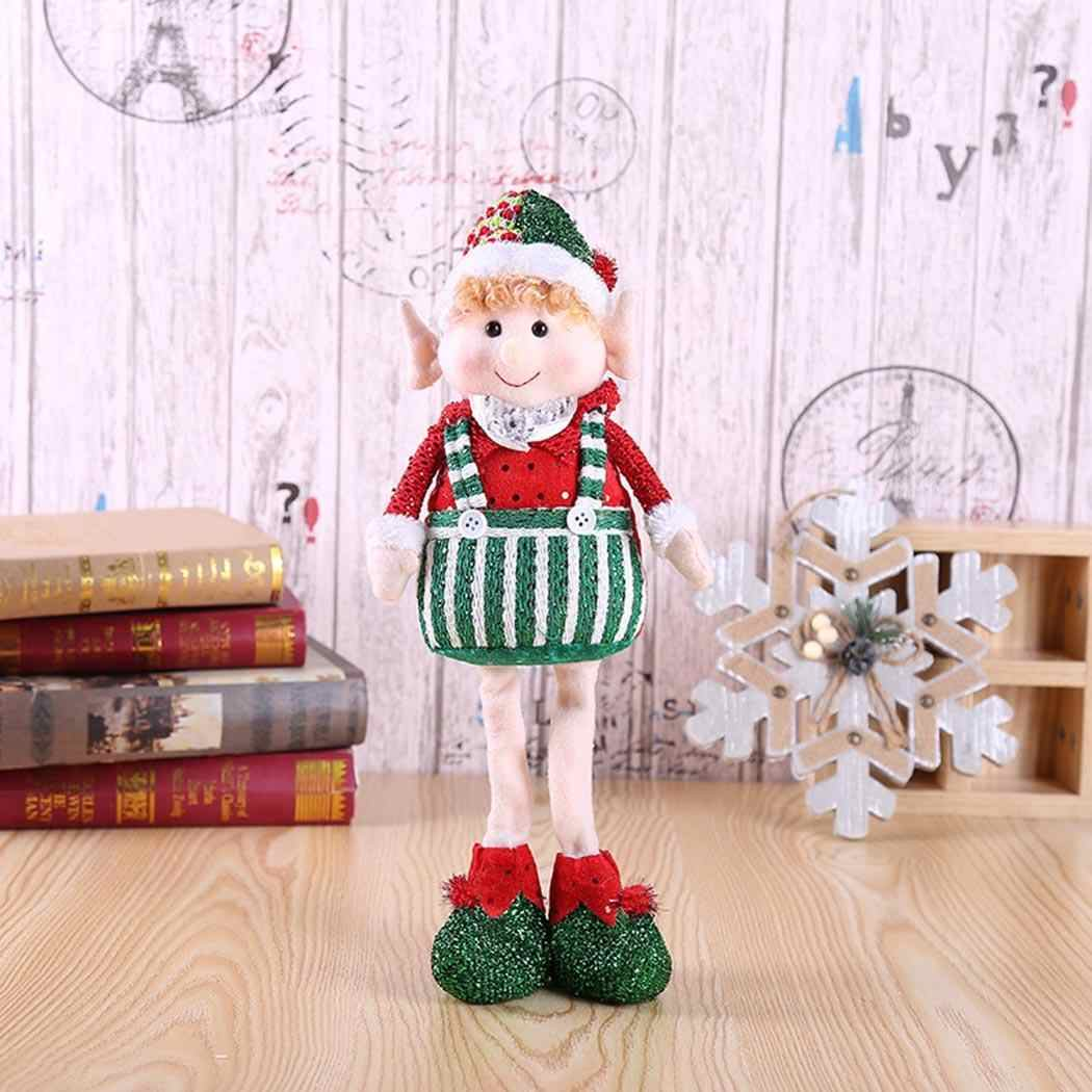 Boneca bonito Do Natal Decorações de Natal Elf Party dress up Festivo Do Feriado Mulheres/Homens stand/sit Multi Color