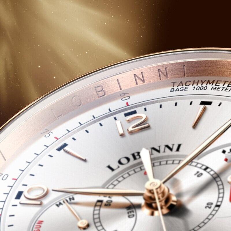 Szwajcaria LOBINNI mężczyźni zegarki luksusowe marka zegarka kobiet Sapphire relogio japonia Miyota 9122 automatyczny ruch mechaniczny L16013 1 w Zegarki mechaniczne od Zegarki na  Grupa 3