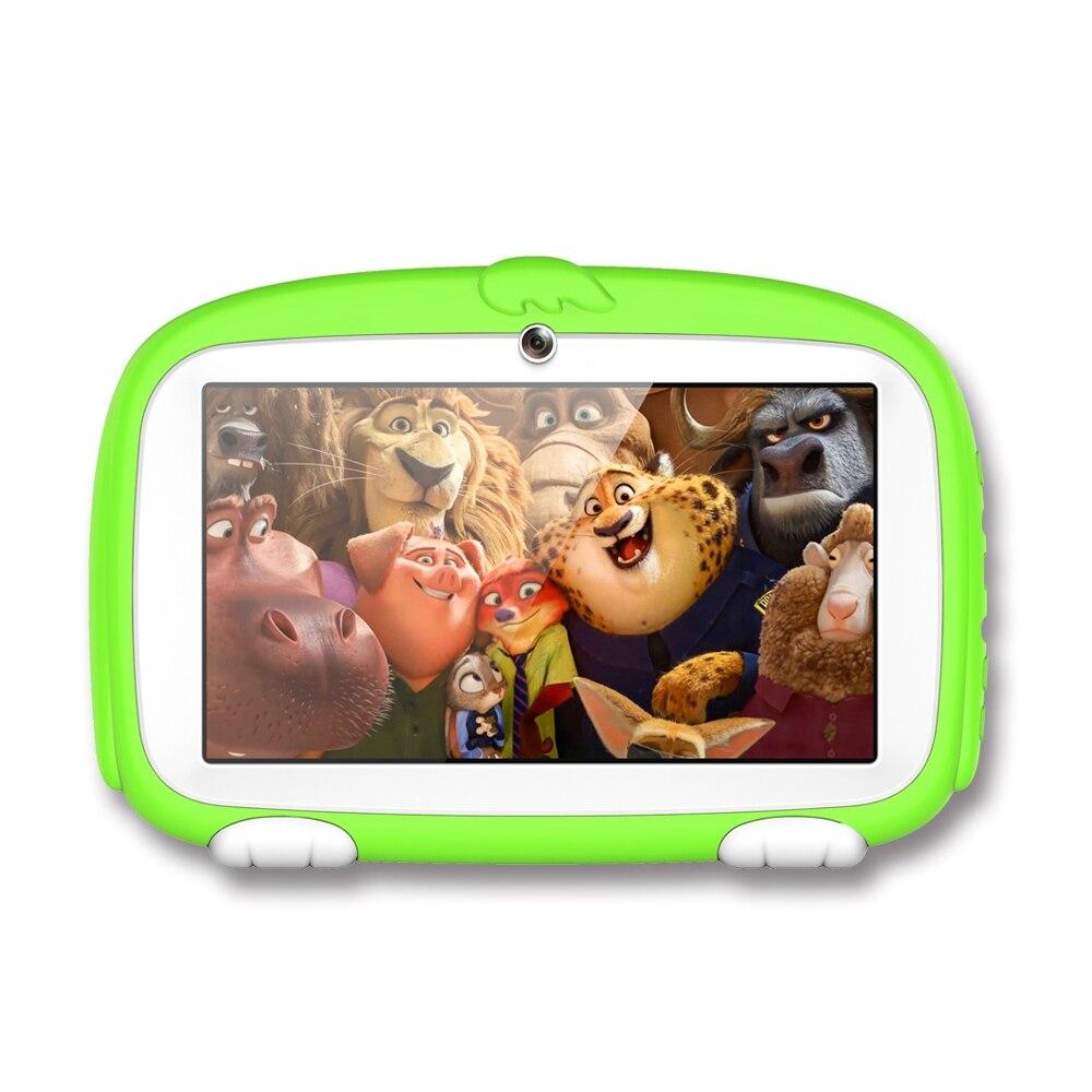 Enfants tablette PC 7 pouces Android tablette Quad Core 8 GB 1024x600 écran enfants éducation jeux Babypad cadeau d'anniversaire (1 GB RAM, EU P