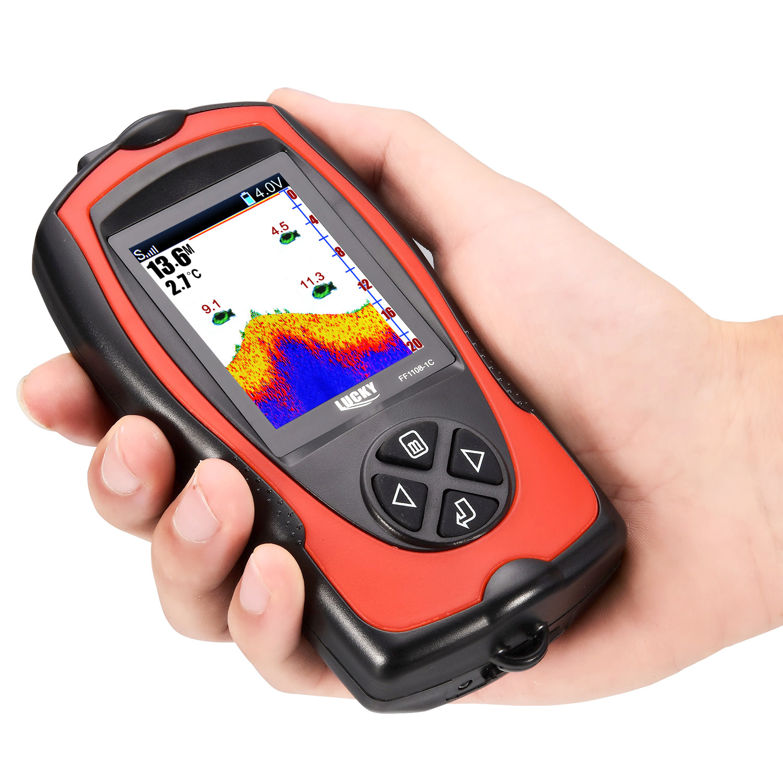 sorte portatil sonar inventor de peixes fishfinder cabo sonar para pesca fishfinders para caiaque barco lago