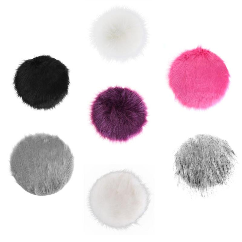 30cm Diameter Artificial Sheepskin Carpet Mat Chair Cushion Cover Bedroom Home Seat Blanket