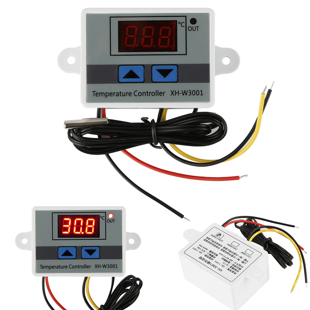 Multifunctional 220V 10A Digital LED Temperature Controller Microcomputer Thermostat Switch Sensor Meter Probe XH-W3001(China)