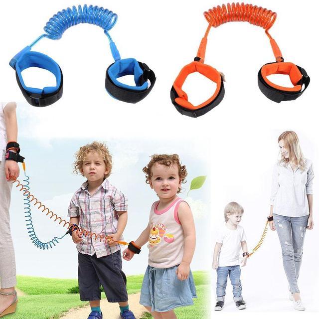 Arnés de seguridad para niños Correa Anti perdido de muñeca ajustable de enlace de tracción cuerda cinturón de pulsera de bebé niños