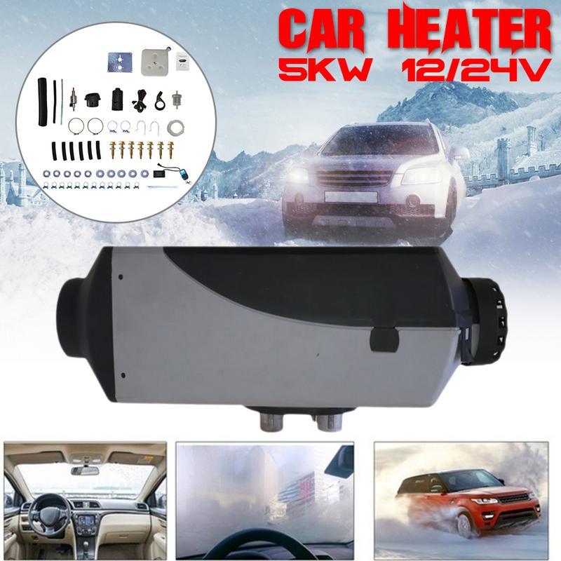 Aquecedor do carro 5KW 12V 24V aquecedor de ar diesel estacionamento aquecedor com controle remoto display LCD Switch RV, camping reboque, caminhão, barco