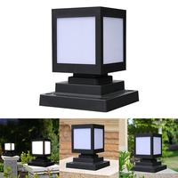 Outdoor Garden Solar Powered LED Post Deck Cap Square Fence Landscape Lamp Light