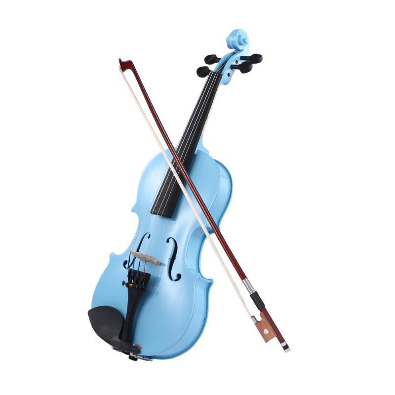 Handmade Wooden 1/8 Size Natural Acoustic Violin Fiddle With Case Bow Rosin For Students Beginner