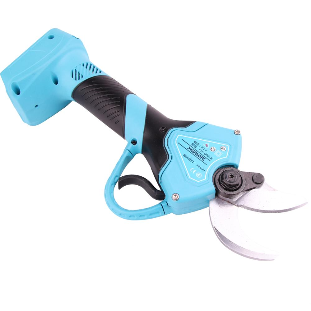 garden scissors Working voltage DC21V cordless electric pruning shears battery powered manual scissors