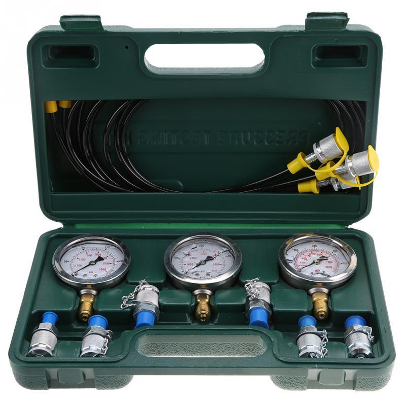Hydraulic Pressure Test Kit Excavator Hydraulic Pressure Test Kit with Testing Point Coupling and Gauge