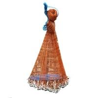 FSTE Saltwater Fishing Cast Net For Bait Trap Fish Throw Net Size 5Ft Radius. 0.59Inch Mesh Freshwater Nets