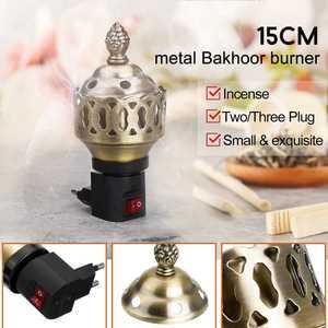 Electric Incense Burner Hollowed Essential Oil Lamp Burner Floral Decorated Desk Lamp Home Decor 220V-240V(China)