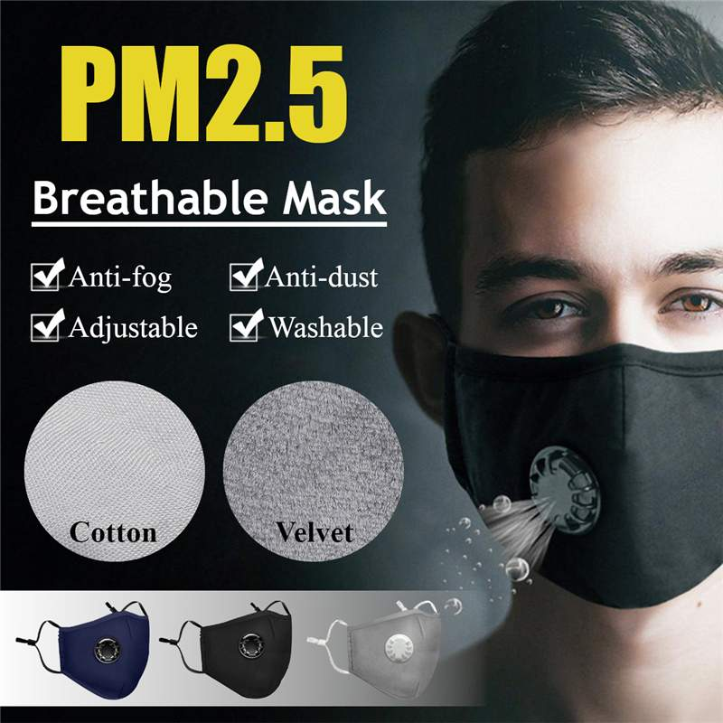 Security & Protection Hot Dust Mask Usb Electric Air Purifying Face Masks Anti-fog Haze Pm2.5 Pm0.3 Pollen Breathable Valve Mask Anti Dust Pollution