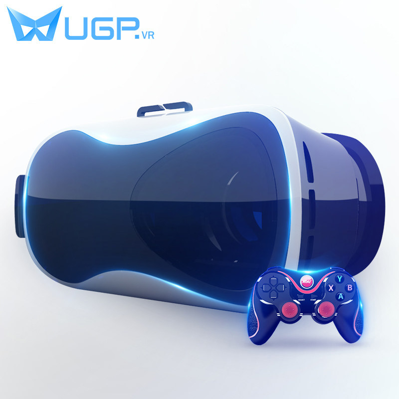 bfc9c162d91 UGP V5 VR Google Cardboard Virtual Reality 3D Glasses Immersive  Head-mounted With bluetooth Gamepad